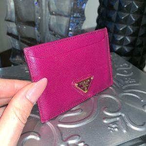 Prada Accessories - Prada cardholder in fuchsia